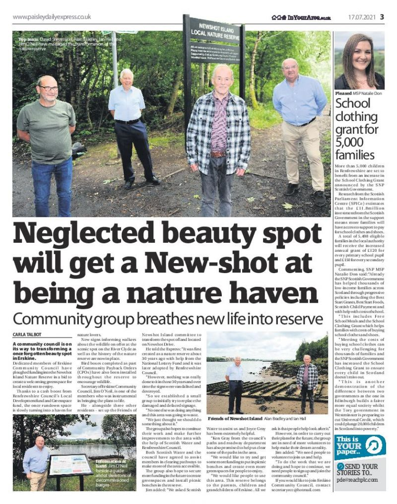 Erskine Community Council - Paisley Daily Express Article