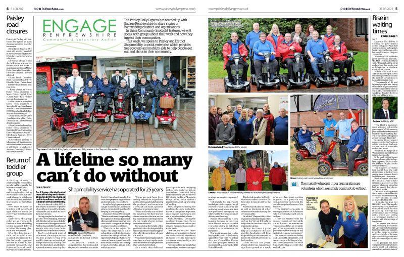 Shopmobility - Paisley Daily Express Article